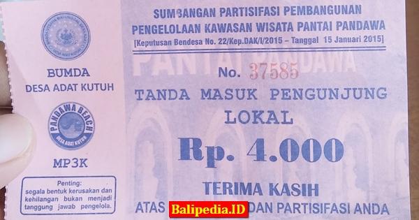 Tiket Masuk Pantai Pandawa Bali