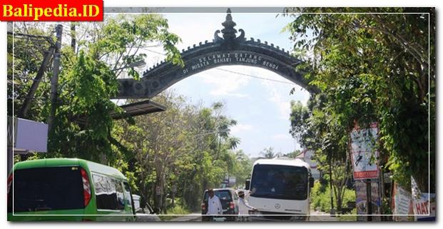 Gapura Selamat Datang di Tanjung Benoa Bali