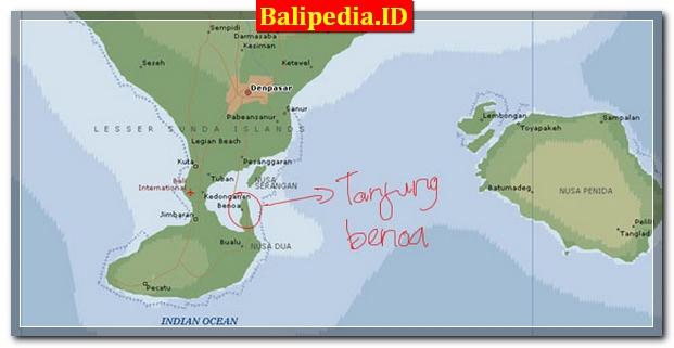 Peta Tanjung Benoa