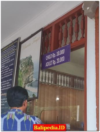 Harga Karcis Masuk Uluwatu Temple Bali