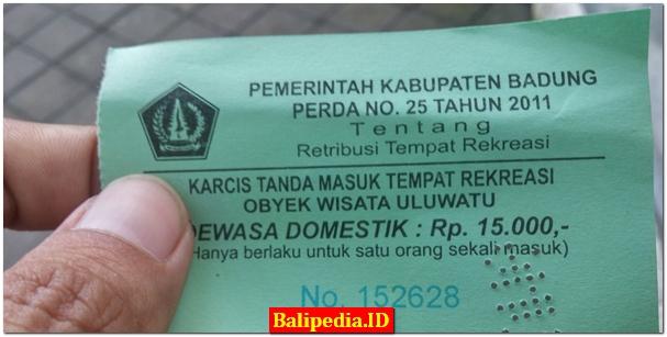Tiket Masuk Uluwatu Bali