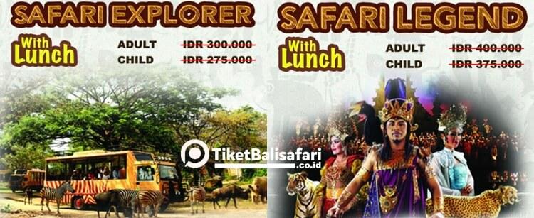 Harga Paket Bali Safari Park + Lunch