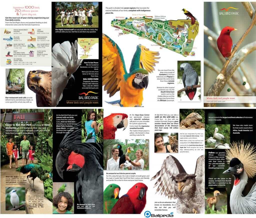 Brosur Bali Bird Park