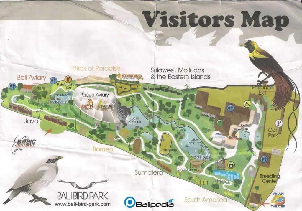 Peta Bali Bird Park